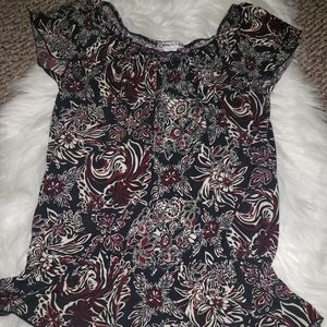 Claudia Richard Floral Cinched Waist Blouse